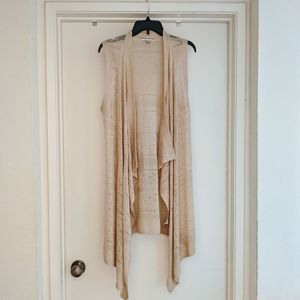 Long knit cardigan vest size medium